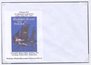 Sonderumschlag Gorch Fock Nr. 3