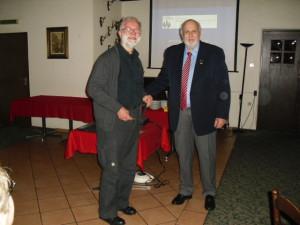 Ingo Susemihl, Peter Perlbach 1. Vorsitzender des Harburger Briefmarkensammler-Vereins