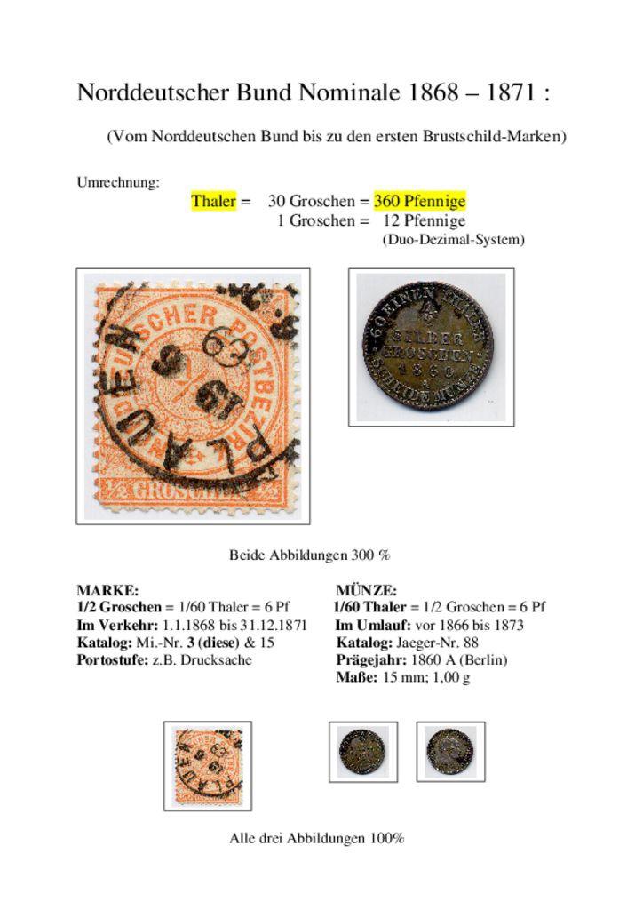 thumbnail of NorddeutscherBundNominale1868-1871