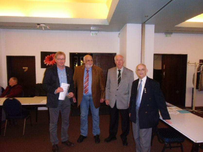 Michael Schneemann, Peter Perlbach, Wolfgang Harms, Harald Krieg (Herr Lange, Bronze, war leider nicht anwesend)
