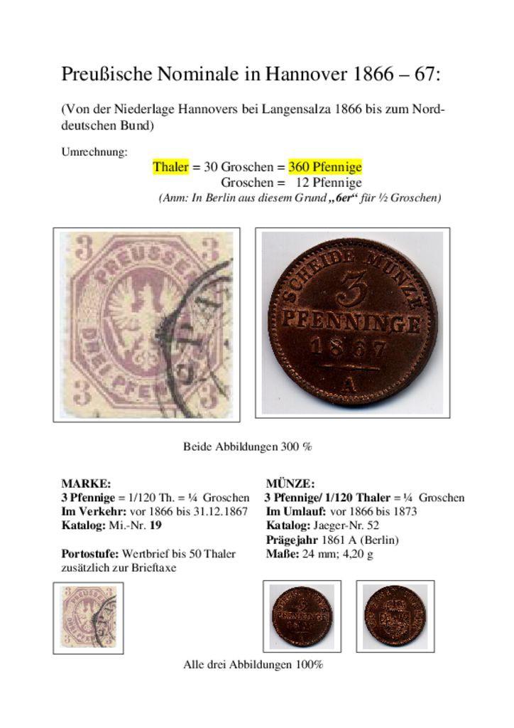 thumbnail of PreussischeNominaleInHannover1866-1867