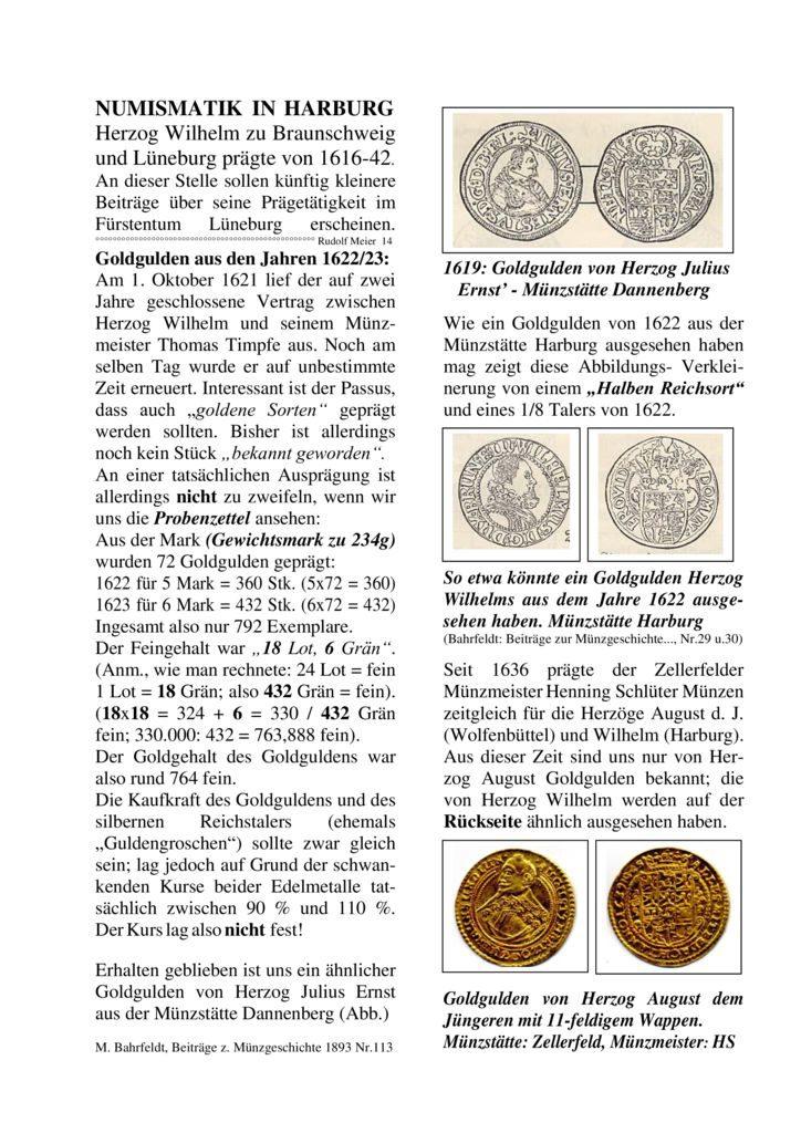 Goldgulden aus den Jahren 1622/23