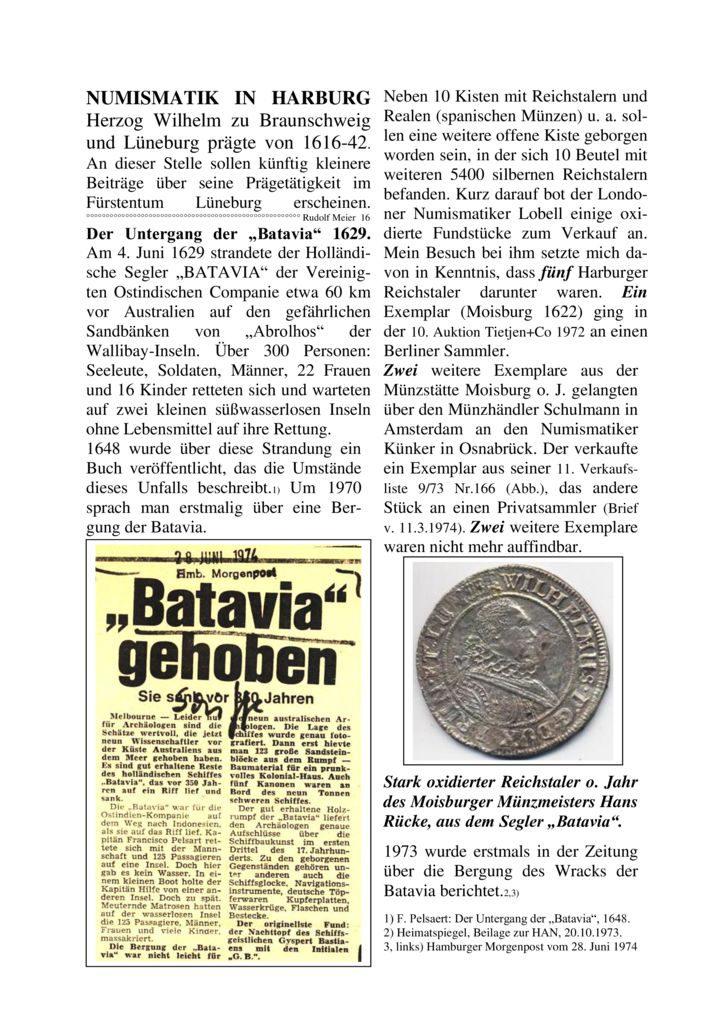 """Der Untergang der """"Batavia"""" 1629"""