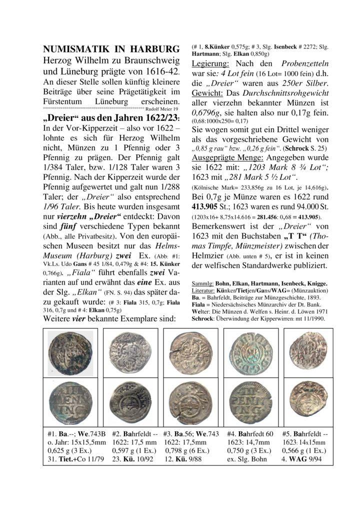 """""""Dreier"""" aus den Jahren 1622/23"""