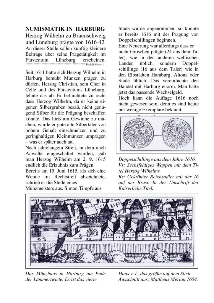 Die Münzstätte Harburg