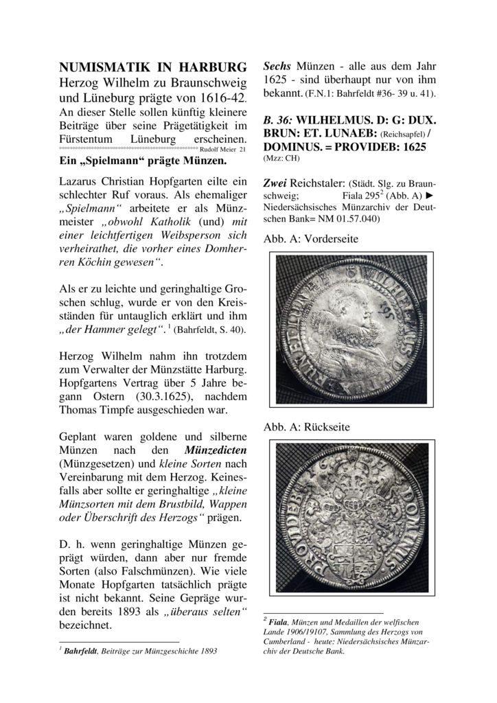 """Ein """"Spielmann"""" prägte Münzen"""