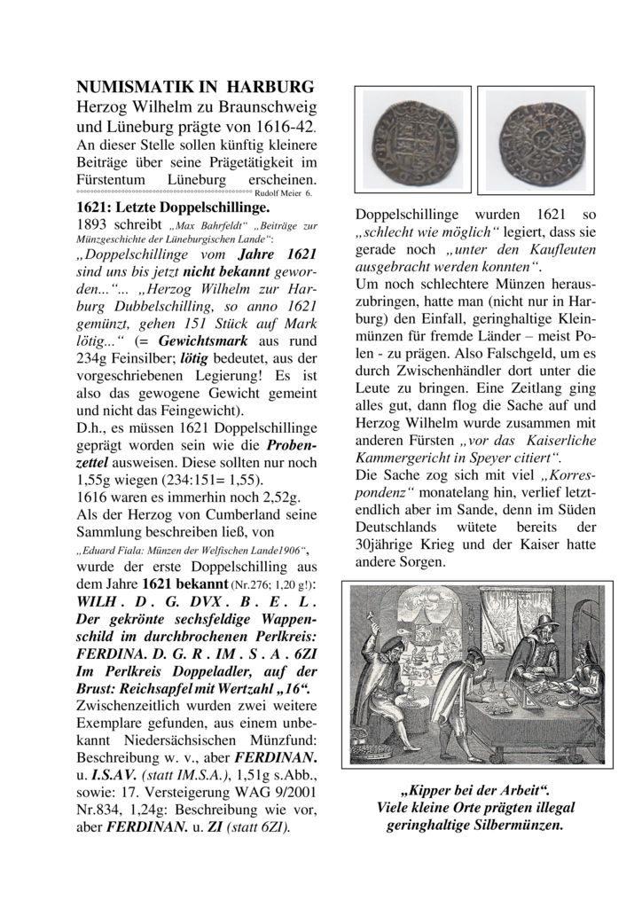 1621: Letzte Doppelschillinge